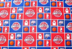 """18"""" x 43"""" Detroit Pistons Basketball NBA Jersey 46 Hoops Log"""