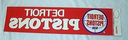 "1970's Detroit Pistons 4"" X 14"" Bumper Sticker Old School Vi"