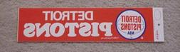 1970s DETROIT PISTONS OLD LOGO BUMPER STICKER LARGE 14 1/2 i