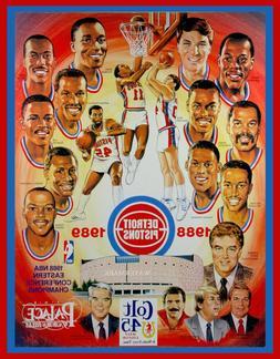 1988-1989 DETROIT PISTONS NBA CHAMPIONSHIP TEAM 8x10 PHOTO