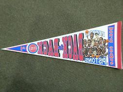 1990 DETROIT PISTONS WORLD CHAMPS BACK TO BACK PHOTO PENNANT
