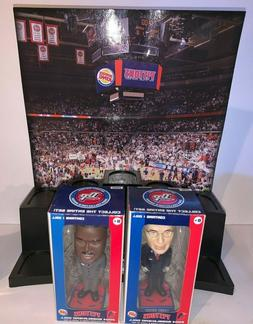 2004 Detroit Pistons Complete Set of 10 BK Bobbleheads w/Sta