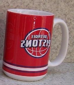 Coffee Mug Sports NBA Detroit Pistons NEW 15 ounce cup with