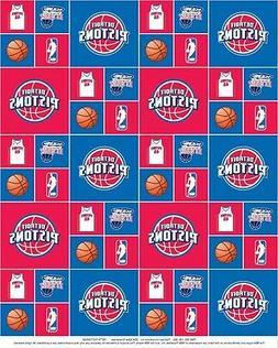 Cotton Detroit Pistons NBA Basketball Sports Team Cotton Fab