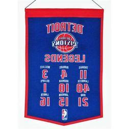 Detriot Pistons Legends Banner Pennant 14 X 22