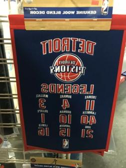 Detriot Pistons Legends Embroidered Wool Banner Pennant 14x2