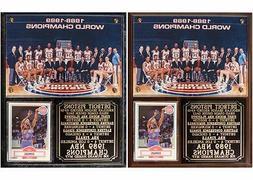 Detroit Pistons 1989 NBA Champions Photo Plaque Joe Dumars M