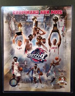 DETROIT PISTONS 2004 NBA CHAMPIONS Limited Edition 8X10 PHOT