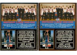 Detroit Pistons 2004 NBA Champions Photo Card Plaque