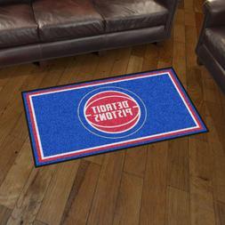 Detroit Pistons 3' X 5' Decorative Ultra Plush Carpet Area R