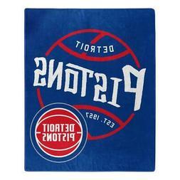 Detroit Pistons 50x60 Blacktop Design Raschel Throw Blanket