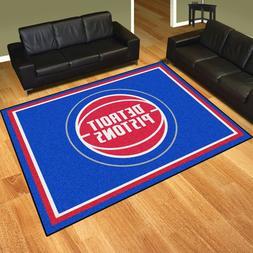 Detroit Pistons 8' X 10' Decorative Ultra Plush Carpet Area