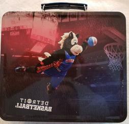 Detroit Pistons & Hooper Basketball Metal Lunchbox Arena Giv