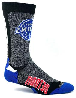 Detroit Pistons Basketball NBA Downtown Crew Socks No Embroi