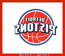 DETROIT PISTONS BASKETBALL NBA DECAL STICKER TEAM LOGO~BUY 1