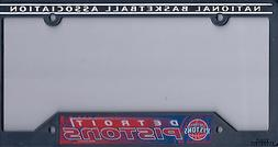Detroit Pistons Black Plastic License Plate Frame