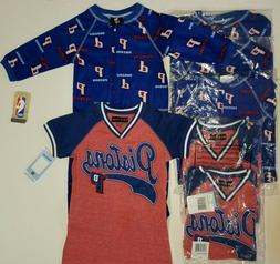 DETROIT PISTONS BOYS GIRLS CLOTHING LOT 1 PIECE FOOTED PAJAM