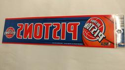 Detroit Pistons Bumper Strip Sticker
