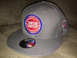New Era Detroit Pistons Charcoal Gray 9FIFTY Snapback Adjust
