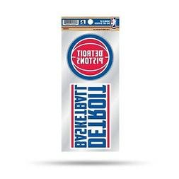 Detroit Pistons Double UP Decal Sheet Slogan Sticker Auto Ho