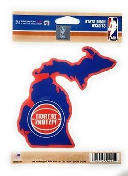 Detroit Pistons Home State Sticker Flat DieCut Decal Emblem