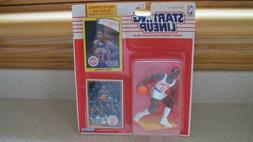 Detroit Pistons Isiah Thomas Figure w Rookie Year Card 1990