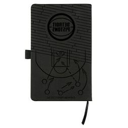 Detroit Pistons Laser Engraved Small Notepad - Black