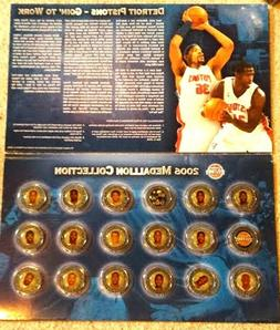 DETROIT PISTONS Medallion Collection 2006 Complete set with