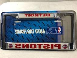 Detroit Pistons Metal Frame Chrome License Plate Tag Cover B