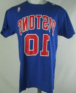 Detroit Pistons Mitchell & Ness #10 Rodman Blue Short Sleeve