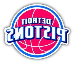 Detroit Pistons NBA Basketball  Car Bumper Sticker Decal - 3
