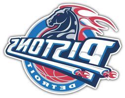 """Detroit Pistons  NBA Basketball Car Bumper Sticker Decal """"SI"""