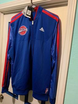Detroit Pistons NBA Blue On Court Adidas Authentic Warm-up J