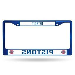 Detroit Pistons NBA Licensed Blue Painted Chrome Metal Licen