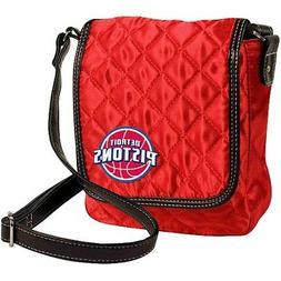 Detroit Pistons NBA Licensed Quilted Purse Handbag