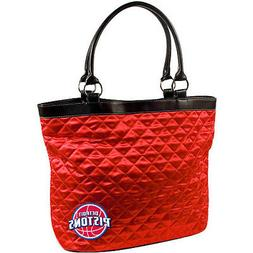 Detroit Pistons NBA Licensed Red Quilted Tote Bag