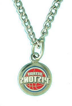 detroit pistons nba logo necklace