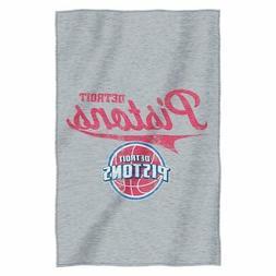 Detroit Pistons NBA Logo Sweatshirt Material Poly/Cotton Thr