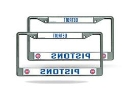 Detroit Pistons NBA  Chrome Metal License Plate Frames