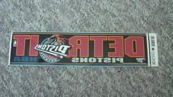 """DETROIT PISTONSNBA Team Logo Bumper Sticker """"WINCRAFT SPOR"""