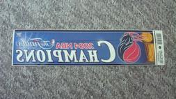 DETROIT PISTONSNBA Team Logo Bumper Sticker 2004 NBA CHAMP