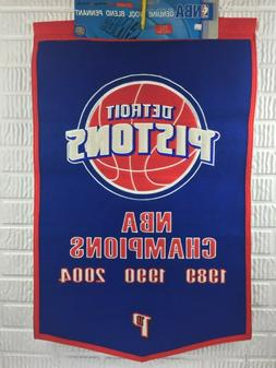 Detroit Pistons NBA World Champions Wool Blend Pennant Banne