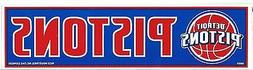 DETROIT PISTONS OFFICIAL NBA BUMPER STICKER / DECAL