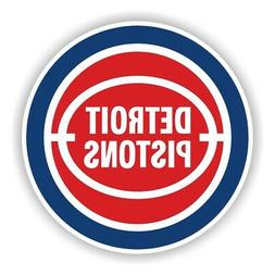 Detroit Pistons Round Precision Cut Decal