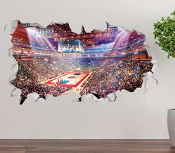 Detroit Pistons Stadium Wall Decal 3D Sticker Smashed Decor