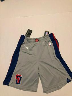 Detroit Pistons Nike  Swingman Basketball Shorts Gray/Blue S
