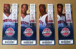 Detroit Pistons Ticket Stubs Group of 4 Featuring 2004 Champ