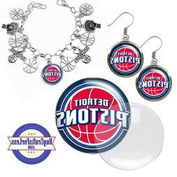 FREE DESIGN > DETROIT PISTONS -Earrings, Pendant, Bracelet,