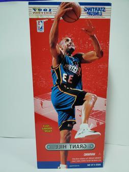 "GRANT HILL Starting Lineup 12"" SLU 1997 NBA Action Figure &"