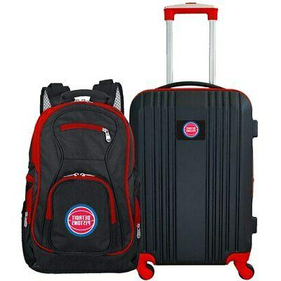detroit pistons 2 piece luggage and backpack